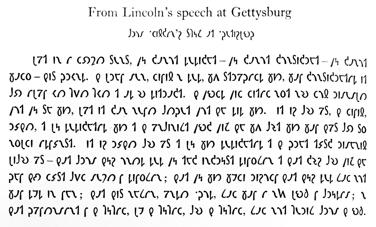 From Lincoln's speech at Gettysburg